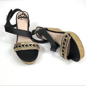 Fergalicious Rumor Black Bling Wedge 9M